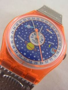 Bought in 1996: Starry Sky Galaxy UFO Orange... SO sad when it broke - the only watch I will ever love.  To date, I have a bare wrist.