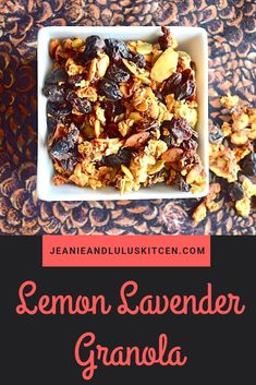 This lemon lavender granola is so chock full of goodies with lovely flavor that just screams spring! Perfect for breakfast or snacking. Brunch Recipes, Breakfast Recipes, Brunch Food, Brunch Ideas, Drink Recipes, Bake Sale Recipes, Cooking Recipes, Vegetarian Recipes, Granola