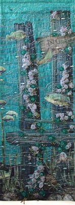 Amazing beaded quilt