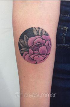 Small Peony Tattoo