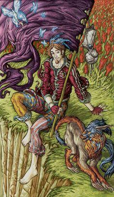0 - Le fou - Universal Fantasy Tarot par Paolo Martinello