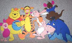 A Turma do Pooh. Feito de cartolina. By Rose Mourão.