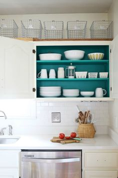 binnenkant keukenkastjes opfleuren - leuk extraatje