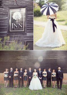black and white wedding #umbrella