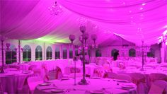 Hot Pink lights On Your Wedding at DJ MAGOO we let you select your room to be any colour you want!