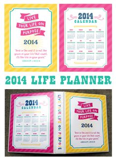 Get organized with the 2014 Life Planner by Crystal Wilkerson!