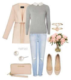 """""""Chic Work Outfit"""" by natihasi ❤ liked on Polyvore featuring BCBGMAXAZRIA, Witchery, Topshop, Dorothy Perkins, Givenchy, Michael Kors and Accessorize"""
