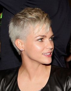 Ruby Rose styled her hair in a short cute pixie cut