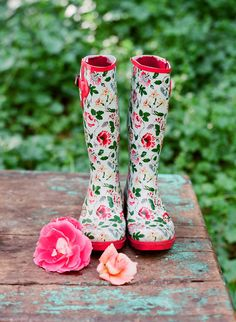 #boots #floral