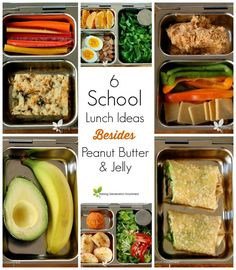 6 School Lunch Ideas *Besides* Peanut Butter u0026 Jelly  sc 1 st  Pinterest & Healthy Back to School Lunch Ideas Moms and Kids Will Love ... Aboutintivar.Com