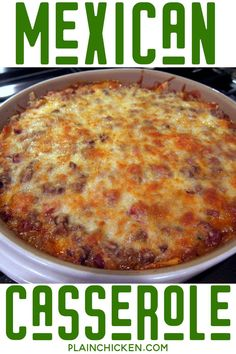 Mexican Food Recipes 48947 Easy Mexican Casserole – tortilla chips, taco meat, beans, tomatoes, and cheese – top with your favorite taco toppings! Can make ahead and freeze for later. Easy Mexican Casserole, Easy Casserole Recipes, Casserole Dishes, Taco Casserole, Mexican Ground Beef Casserole, Chicken Casserole, Meat Recipes, Mexican Food Recipes, Chicken Recipes