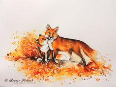 """""""Amitié"""" / """"Friendship""""  23x30,5cm / aquarelle / watercolor"""