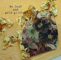 Another clever thing to do with old CDs, cut them into different shapes, attach magazine photos or pretty paper, run hot glue around the edges and add gold leave to hot glue while its warm or beads or let it cool and paint the edges.