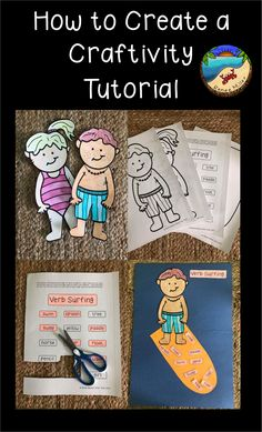 How to create a craftivity for your next grammar lesson on verbs First Grade Projects, First Grade Activities, Teaching First Grade, Classroom Activities, Grammar Lessons, Writing Lessons, Spanish Language Learning, Teaching Spanish, German Language