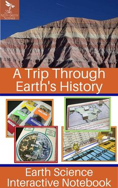The Earth Science Interactive Notebook: A Trip Through Earth's History chapter showcase student's ability to: Science Lesson Plans, Science Curriculum, Science Classroom, Science Lessons, Science Education, Life Science, History Interactive Notebook, Interactive Notebooks, Next Generation Science Standards