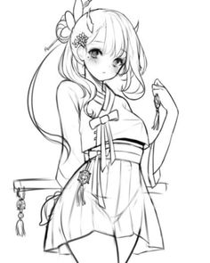amazing drawing hairstyles for characters ideas - anime - # . Anime Drawings Sketches, Anime Sketch, Manga Drawing, Manga Art, Art Drawings, Art Poses, Drawing Poses, Kawaii Anime Girl, Anime Art Girl