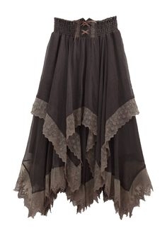 Finding Mori — Irregular Hem Long Skirt by Axes Femme, Skirt Outfits, Cool Outfits, Modest Outfits, Summer Outfits, Mode Baroque, Moda Medieval, Handkerchief Skirt, Boho Fashion, Womens Fashion