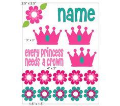 Princess 2 cranial band decoration size