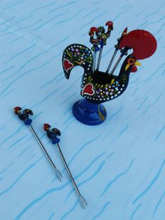 Rooster with sticks by CieloBluHandcrafts on Etsy