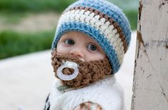 GroopDealz | Toddler Country Blue Bearded Beanie...Yes! I'd say this would fit a Beard (our last name) baby quite well :)