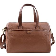 Pre-owned Fossil Mimi Convertible (a3720e) Brown Satchel (165 CAD) ❤ liked on Polyvore featuring bags, handbags, brown, crossbody purse, crossbody handbags, fossil crossbody, brown satchel crossbody and fossil purses