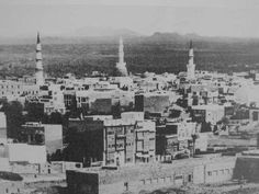 Aerial view of Masjid-e-Nabwi