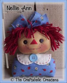 The Craftaholic Creations: Past TCC pattern club patterns Sewing Patterns Free Home, Doll Patterns Free, Free Pattern, Bear Template, Primitive Doll Patterns, Fabric Dolls, Rag Dolls, Raggedy Ann And Andy, Handmade Toys