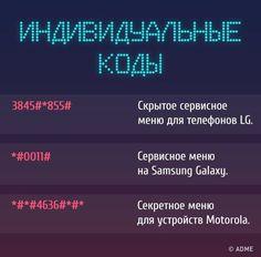 Мобильный LiveInternet Секретные коды для доступа к скрытым функциям телефона | О_Самом_Интересном - Все самое интересное |