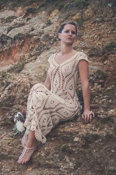Handmade Crochet Wedding Dress LUNA CRECIENTE от IsaCatepillan