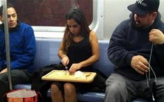 30 Weirdest And Ridiculous People on the Subway -03 http://ibeebz.com