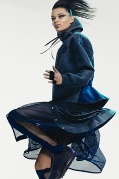 sacai x NikeLab 2015 Summer Collection Sport Style, Sport Chic, Sport Fashion, Fitness Fashion, Active Wear For Women, Women Wear, Mode Editorials, Comfortable Outfits, Summer Collection
