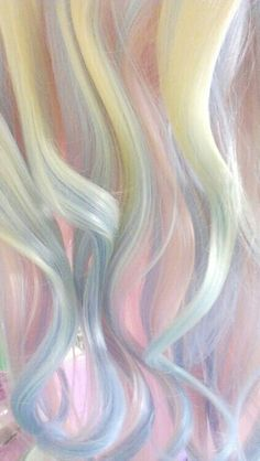 Pastel hair, like cotton candy