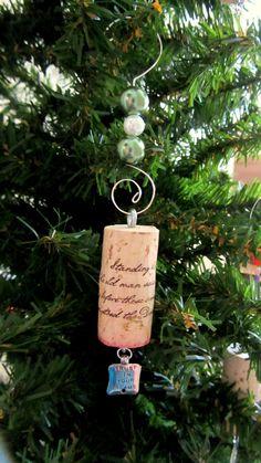 Wine Cork Ornament- send in your wine cork memories and make into an ornament!