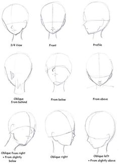 Manga head Direction Drawing Reference Guide | Drawing References and Resources | Scoop.it