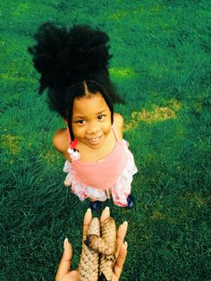 theblacksideoftown:  jasoniaistheway:  I told my little cousin that her beautiful hair has magical powers… So she bought me back some acorns as a gift lol I love you Aubrey P. S. Black Girls DO matter.   Black Culture