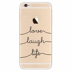 Love Laugh Life iPhone case made from soft-silicone. Compatible iPhone models: 5 / 5s / SE, 6 / 6s, 6 / 6s Plus, 7, 7 Plus Case protects your iPhone while the silky, soft-touch silicone feels great in