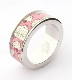 Kawaii #HelloKitty pink bow ring for every day wear