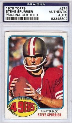 Steve Spurrier Autographed/Hand Signed 1976 Topps Card PSA/DNA #83348802 by Hall of Fame Memorabilia. $72.95. This is a 1976 Topps Card that has been hand signed by Steve Spurrier. It has been authenticated by PSA/DNA and comes encapsulated in their tamper-proof holder.