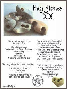 Hag stone information. #witches #Pagan #hagstones