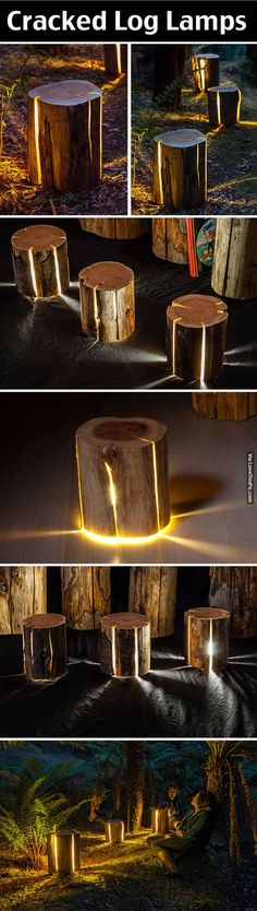 Cracked Log Lamps life lamps technology tech gadgets technology ideas tech accessories