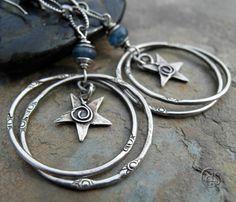 silver star hoops by Art & Soul Jewelry