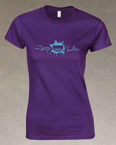 Jeep Life TJ/CJ Women's T-Shirt - Purple – It's a Jeep Shirt! #itsajeepshirt