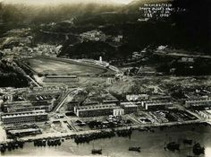 Aerial view of Happy Valley and Bowrington on Hong Kong Island in 1931.