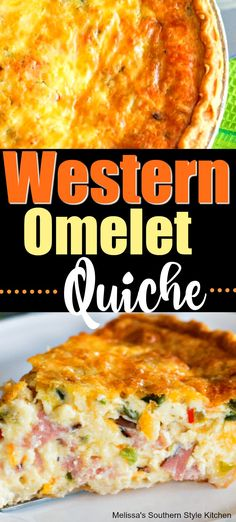 Western Omelet Quiche for dinner Western Omelet Quiche Breakfast Items, Breakfast Dishes, Breakfast Casserole, Breakfast Recipes, Breakfast Quiche, Quiche Recipes, Casserole Recipes, Quiches, Cooking Recipes