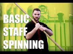 This is a basic flowering or spinning movement for kung fu staff. It is easiest to mark the tip of the staff with a colored tape so you can easily distinguis. Self Defense Martial Arts, Martial Arts Weapons, Martial Arts Techniques, Self Defense Techniques, Martial Arts Workout, Martial Arts Training, Kung Fu, Kali Martial Art, Bow Staff