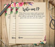 Who am I Bridal Shower Game - Memory Lane Games - Printable Boho Bohemian Bridal Shower Game - Bachelorette Party Games 003