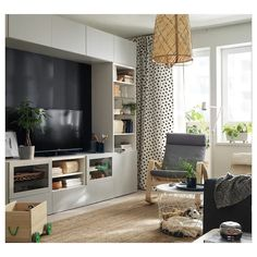 BESTÅ TV and media storage solutions Ikea Living Room, Living Room Storage, Media Storage, Tv Storage, Record Storage, Ikea Tv Console, Contemporary Interior Design, Luxury Living, New Homes