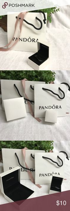 Pandora gift box Brand new Pandora gift box for rings or earrings or charms. I have 28 small Pandora gift boxes total(only first one will be with paper bag). I also have another listing for 10 medium gift boxes which are good for bracelets.  Feel free to bundle and make offers! Pandora Jewelry