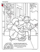 boy helping injured girl Lesson 40: I Can Forgive Others - Primary 2: Choose the Right A