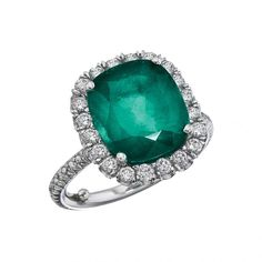Green dreams--Emerald and diamond ring by Katherine Jetter